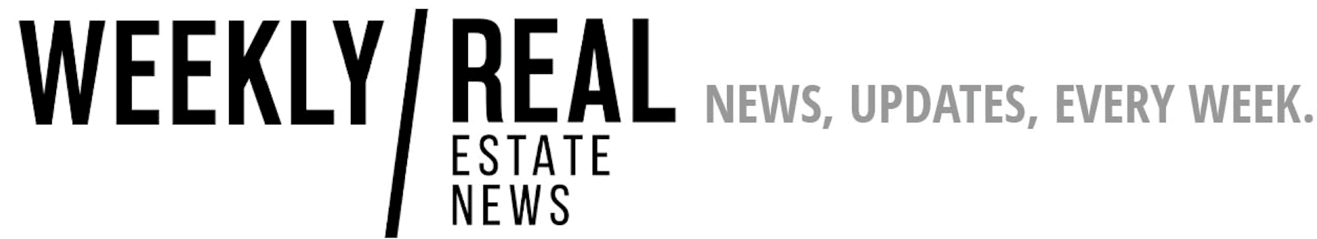 Weekly Real Estate News Online Logo With Tagline