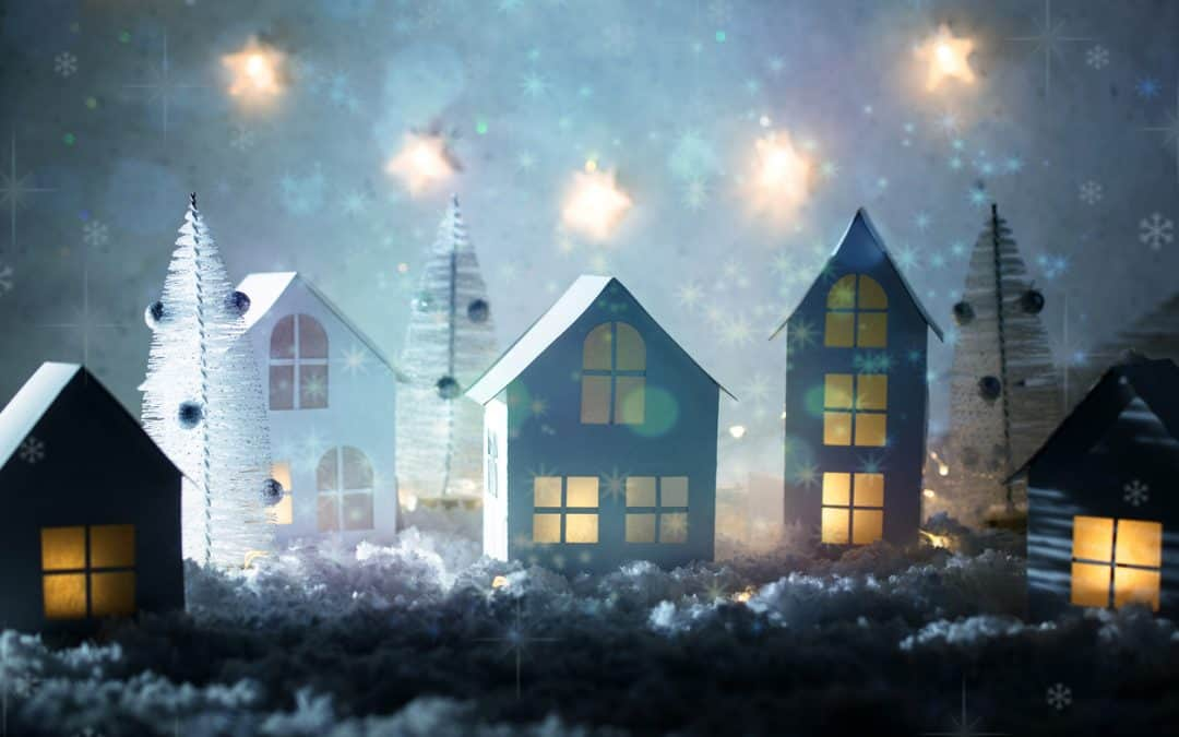Holiday Decorated Home Figurines