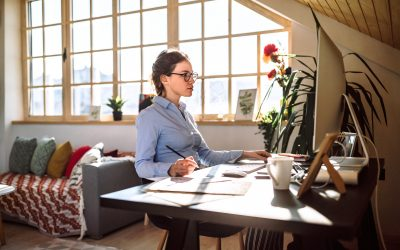 Female Worker Working from Home Office and Affecting Housing Demand