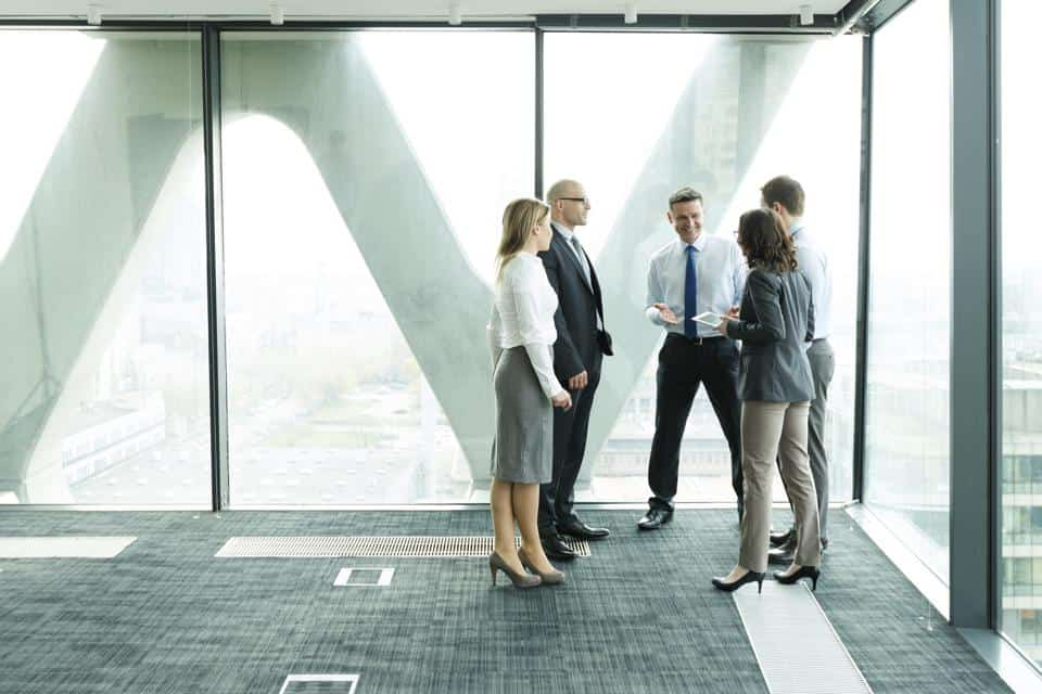 Group In Office Talking