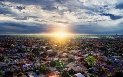 Sunrise Over Homes