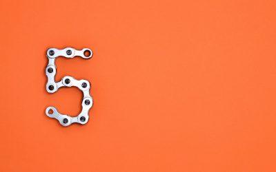 5 on Orange Wall