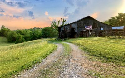 Barn with American Flag