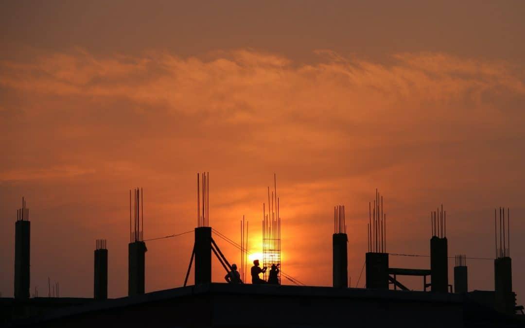 Construction at Sunrise
