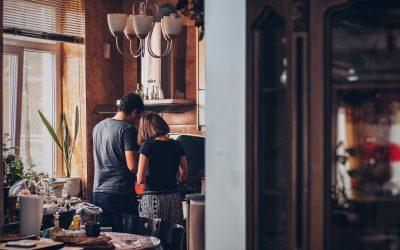 Couple Preparing Breakfast