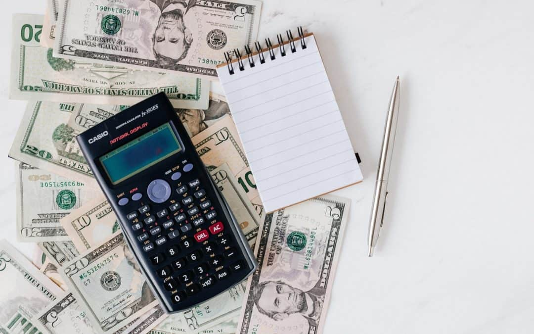 Dollars a Calculator and Notepad