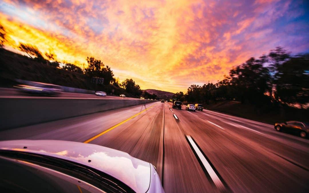 Fast Car on Freeway