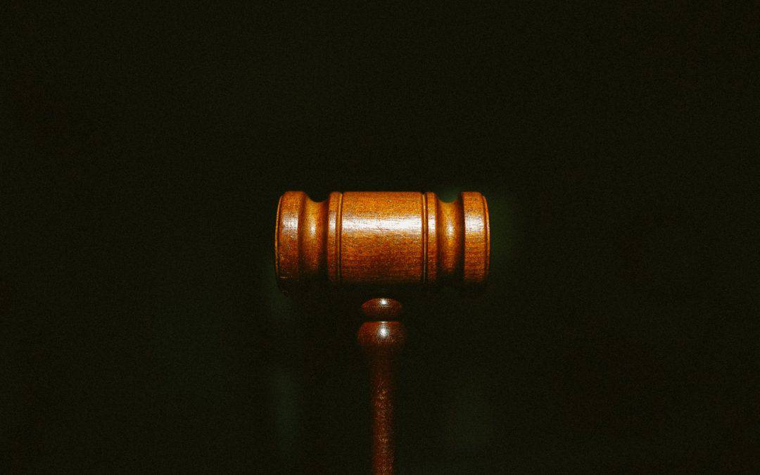 Gavel with Black Background