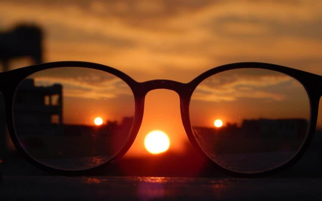 Glasses Focused On City