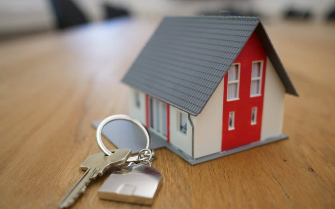 Home Keychain with Key