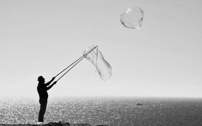 Person Making Bubbles