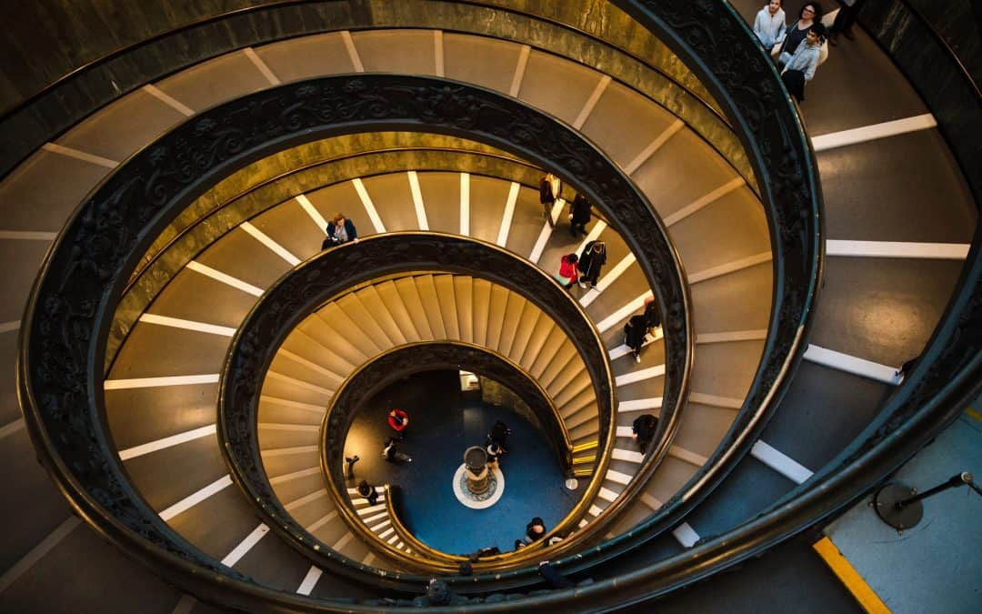 Stairs Spiral Downward