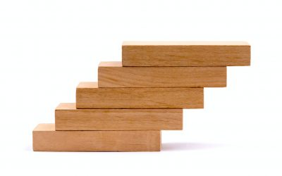 Wood Stairs Going Up
