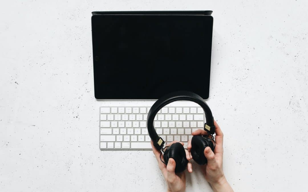 iPad with Headphones