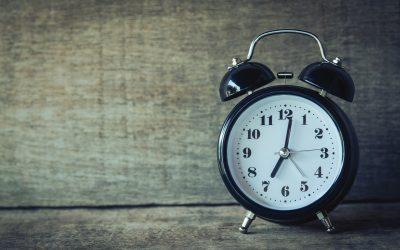 Clock on Wood Wall