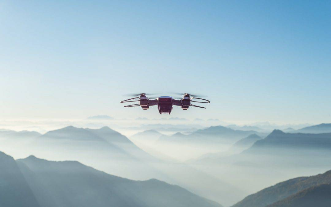 Drone in the Mountains