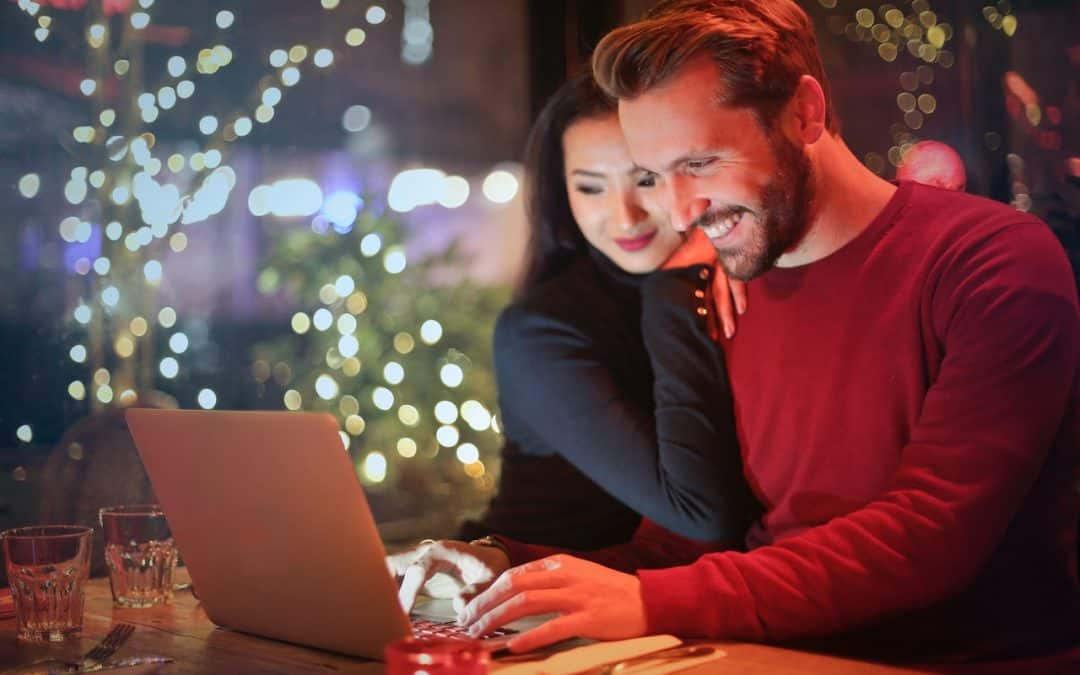 Happy Couple on a Laptop