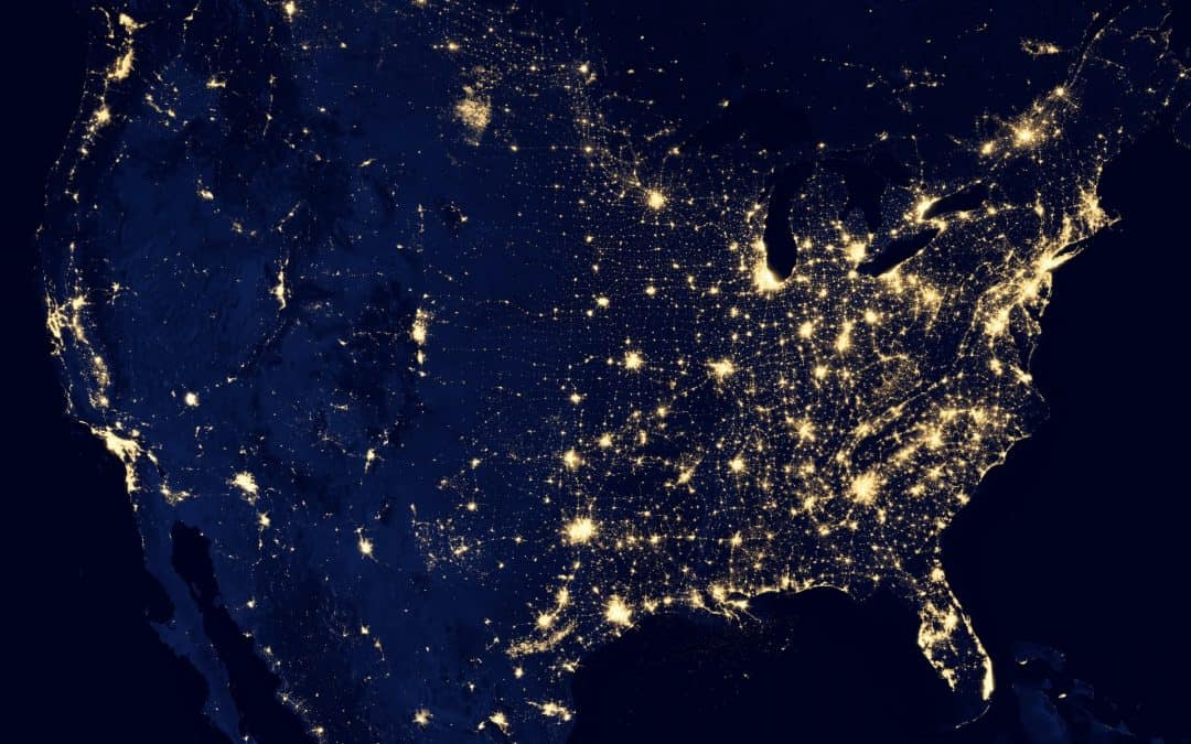 Lights Over the Unites States