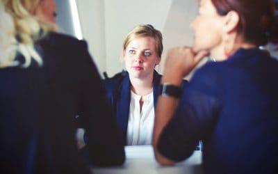 Three Professionals Thinking Talking