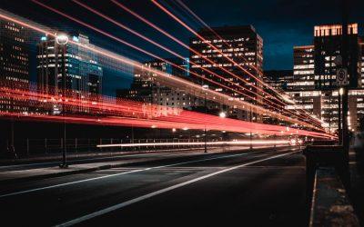 Traffic Lights City at Night