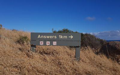 Answers 1km Sign