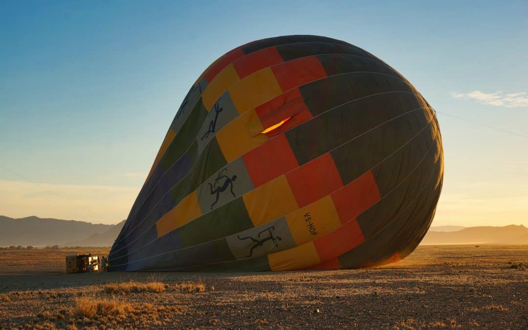 Inflating a Hot Air Balloon