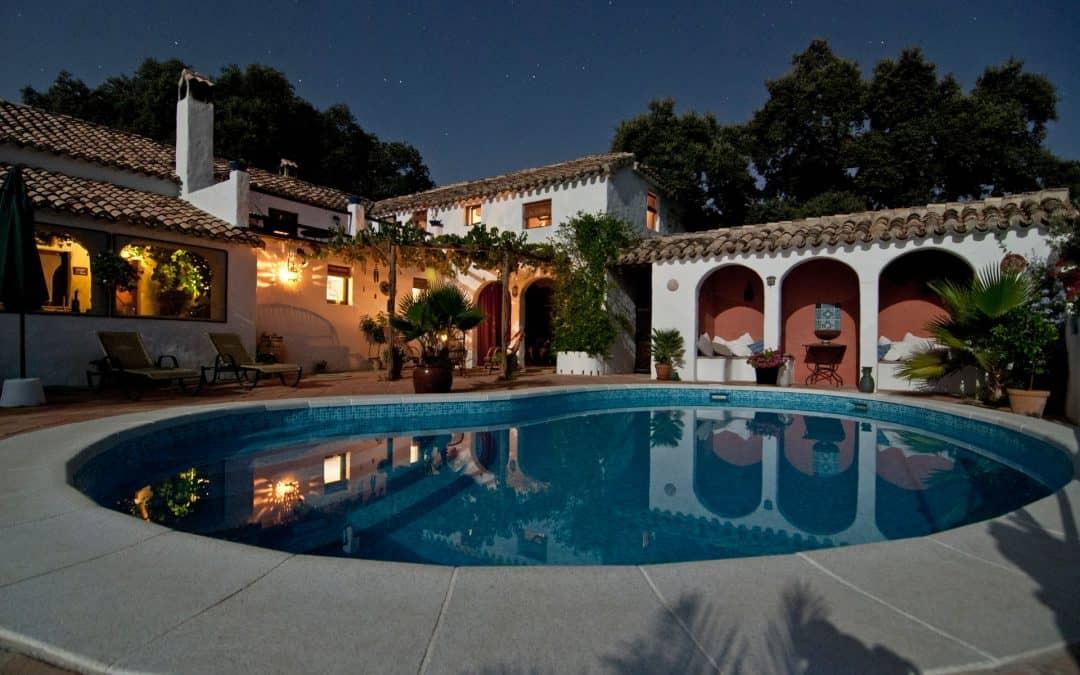 Mansion Night Pool
