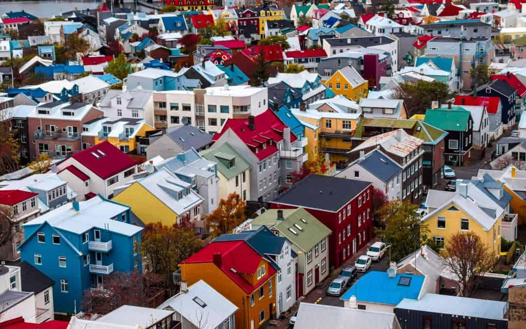 Neighborhood Colorful Homes