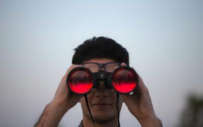 Binoculars Watching Looking