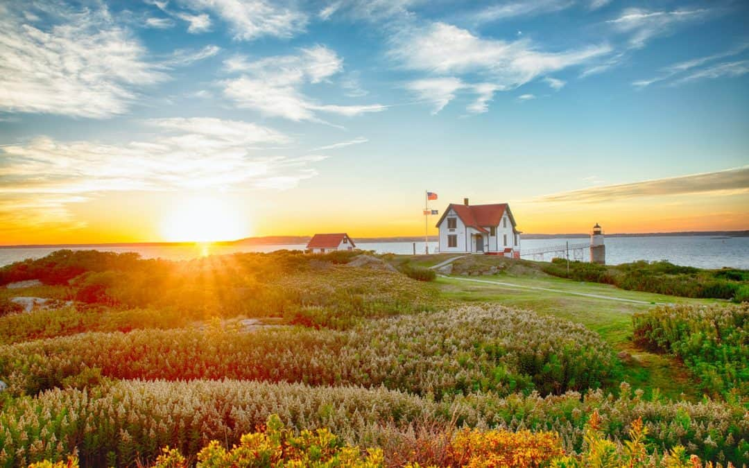 Maine Coast Sunrise Flag