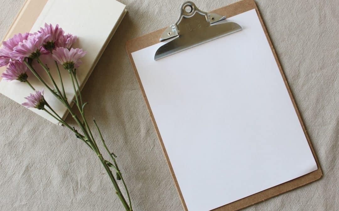 Clipboard Flower Planning