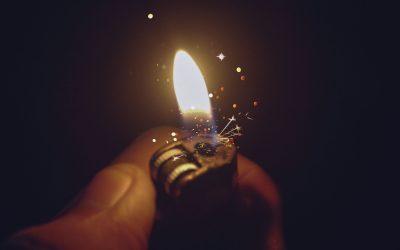 hot lighter hand