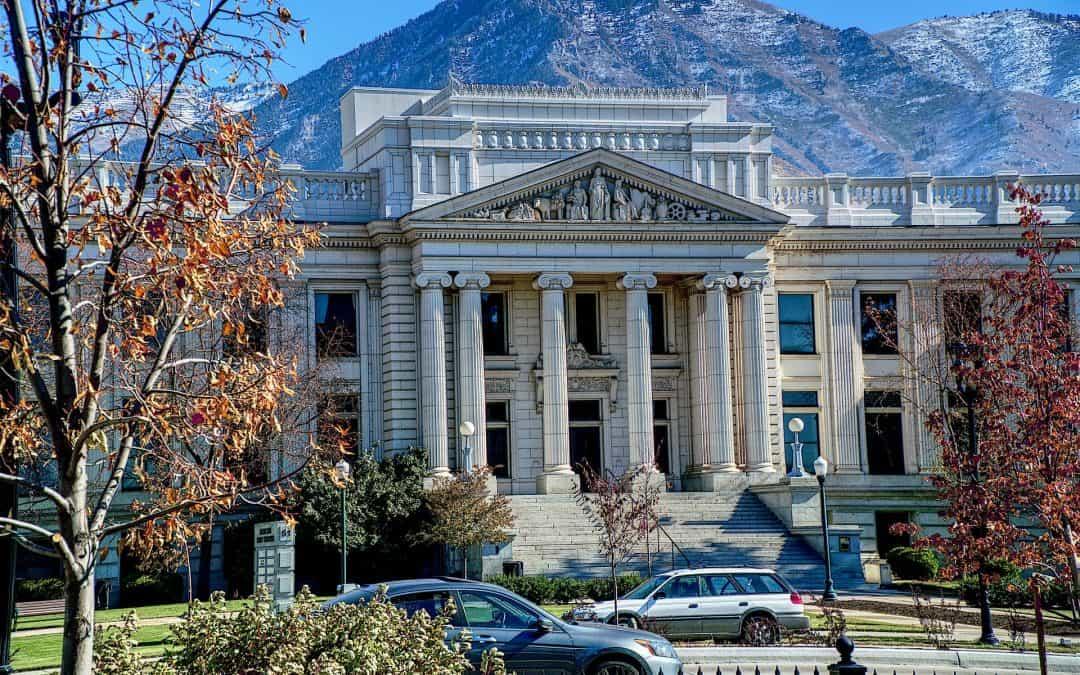 Provo Utah County Court Building Greek Columns